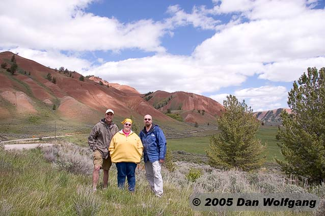 Jim, Sherree and Dan in front of the Red Hills in the Gros Ventre